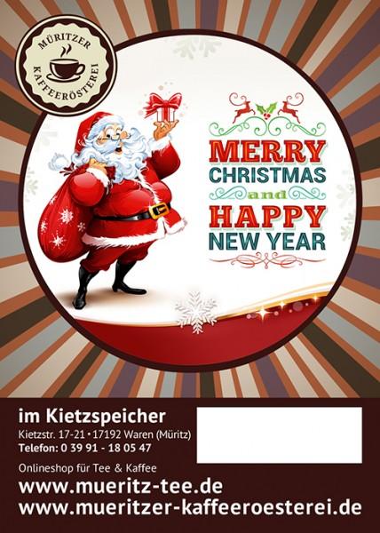 Kaffeegeschenk: Merry Christmas & Happy new year
