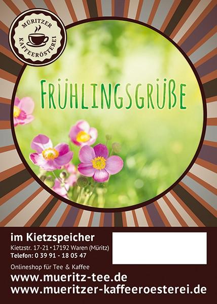 Kaffeegeschenk: Frühlingsgrüße